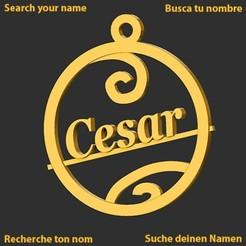 Cesar.jpg Download STL file Cesar • Template to 3D print, merry3d