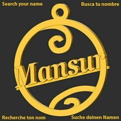 Mansur.jpg Download STL file Mansur • 3D print template, merry3d