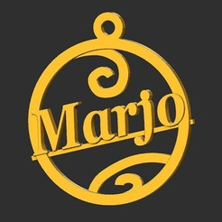 Marjo.jpg Download STL file Marjo • 3D print design, merry3d