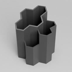 pentate.jpg Télécharger fichier STL gratuit Porte-plume polygone • Design à imprimer en 3D, kozkay
