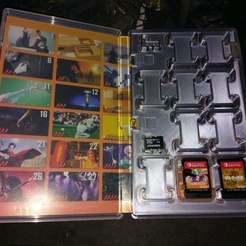 IMAG0382.jpg Télécharger fichier STL gratuit Étui pour cartes de jeu Nintendo Switch V2 • Objet pour impression 3D, ckw8217