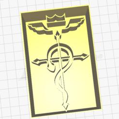FMA.png Download STL file Full metal Alchemist Punch symbol • 3D printer object, Fraise-18
