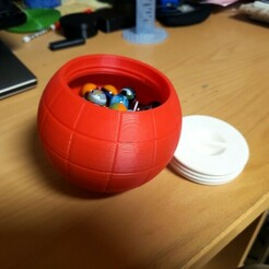 20210102_131428Bsmall.jpg Download free STL file Marble or Dice Storage Globe • 3D print object, bneedhamia