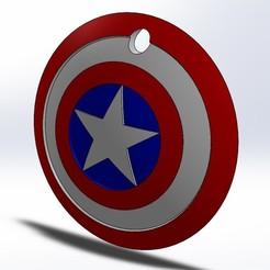 Escudo.jpg Télécharger fichier STL Porte-clés du bouclier de Captain America • Objet imprimable en 3D, ARIA_DSGN