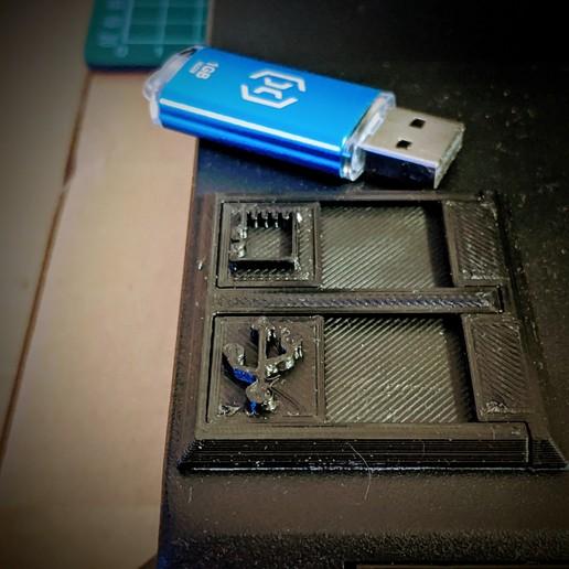IMG_20201122_214723~3.jpg Download free STL file USB Cover Artillery Sidewinder X1, Genius • 3D print object, 3dmini3d