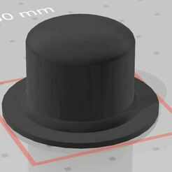MArio Top Hat.JPG Download STL file Lego Mario top Hat • 3D print object, f_r_x