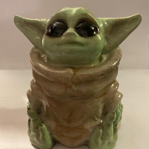 Télécharger fichier STL gratuit Bébé Yoda (Impression facile sans support) • Plan pour imprimante 3D, sensey