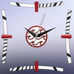 Horloge_Japon_1.JPG Download STL file Japan Wall Clock • 3D printer design, Reflexio