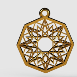 pendant2gold.png Télécharger fichier STL gratuit Pendant2 • Objet pour impression 3D, PaulvanDoorenmalen