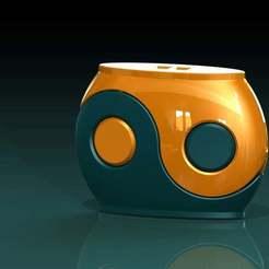 yin-yangtest.JPG Télécharger fichier STL gratuit Yin-yang container/boîte fdm-test 01 • Objet imprimable en 3D, PaulvanDoorenmalen