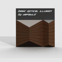 opticalillusion1.png Télécharger fichier STL gratuit Illusion d'optique de base • Design pour imprimante 3D, PaulvanDoorenmalen