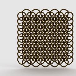render_satin_gold2.png Download free STL file geometric chainlink • 3D printer object, PaulvanDoorenmalen