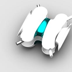 tealspacedrone-explodedview.png Download free STL file teal sport  drone • 3D printing model, PaulvanDoorenmalen