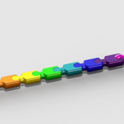 "remicsnakekeychain.png Download free STL file modular (key)chain - remix of:carlok's ""Modular ""snake"" keychain"" • Template to 3D print, PaulvanDoorenmalen"