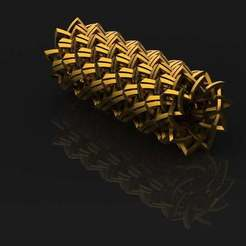 render_satin_gold_3.JPG Download free STL file Round Chainmail(only printable using a support material) • 3D printing object, PaulvanDoorenmalen
