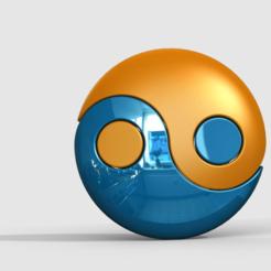yingyangbox1.png Télécharger fichier STL gratuit conteneur/boîte ying-yang • Modèle pour impression 3D, PaulvanDoorenmalen