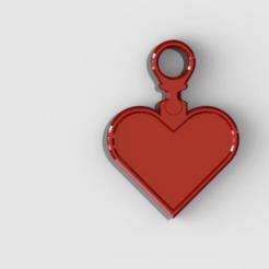 hearthanger.png Télécharger fichier STL gratuit porte-clés coeur de la Saint-Valentin • Design imprimable en 3D, PaulvanDoorenmalen