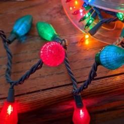 light_covers (2).jpg Télécharger fichier STL Couverture de la lumière de Noël pour les ampoules rétro • Design imprimable en 3D, Kraus