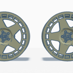 obraz_2020-11-15_225935.png Download free STL file fifteen52 Turbomac wheels without vents • 3D printable template, 43Blockz