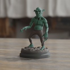 Goblin 1.png Download OBJ file Goblin - RPG • 3D print design, FelipePereira