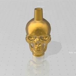 muestra 1.jpg Download STL file HOOKAH/CACHIMBA/SHISHA Skull • 3D printer template, maxi123qwerty