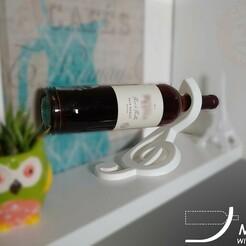 Wine Holder_Music V1.jpg Download STL file Music_Wine Holder • Design to 3D print, Custom3DPrintKit