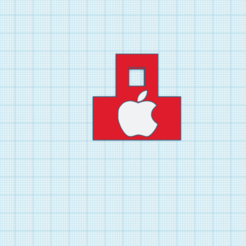 Apple Logo Llavero.png Download free STL file LLavero Logo Apple • 3D printer object, cuentaimprecion3d