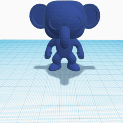 funko elefante.png Download free STL file Funko pop elefante • 3D print template, cuentaimprecion3d