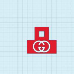 Gucci Logo Llavero.png Télécharger fichier STL gratuit LLavero Logo Gucci • Modèle pour imprimante 3D, cuentaimprecion3d