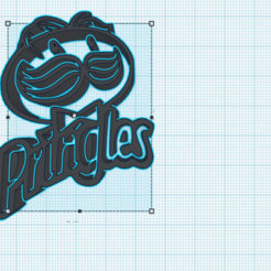 pringles.png Download free STL file Pringles Logo • Design to 3D print, cuentaimprecion3d