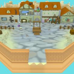 RogueportPerpective1.png Télécharger fichier STL gratuit Rogueport (Paper Mario : The Thousand Year Door) • Objet imprimable en 3D, MintyFries