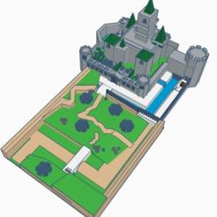 HyruleCastle1.png Télécharger fichier STL gratuit Château d'Hyrule (Low Poly) • Plan imprimable en 3D, MintyFries