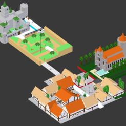 HyruleCastleInfographic.png Télécharger fichier STL gratuit Ville du château d'Hyrule (Low Poly) • Objet à imprimer en 3D, MintyFries