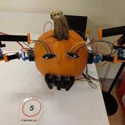 PumpkinBotContest.jpg Download free STL file Pumpkin Bot (Arduino) • 3D print model, MintyFries