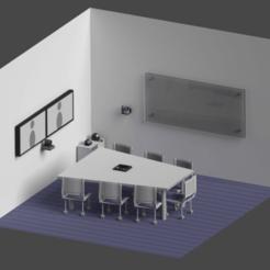 ZoomRoomCap2.png Télécharger fichier STL gratuit Salle Zoom • Design imprimable en 3D, MintyFries