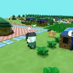 MabeVillage4.png Télécharger fichier STL gratuit La légende de Zelda : l'éveil de Link - le village de Mabe • Modèle pour imprimante 3D, MintyFries