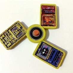 PokeManCardsSpinnerx3.jpg Download free STL file Pokemon Cards Spinner • 3D printer model, MintyFries