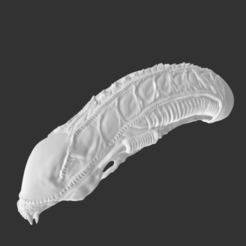 Screenshot.png Download STL file Aliens Xenomorph Warrior Head • 3D printing template, robotfoxthatrox