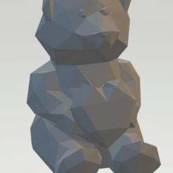 ours.png Download free STL file Heart low poly teddy bear • 3D printer design, manok