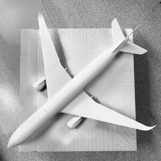 13C64F4C-5A7F-4C34-805B-B46F8EED95CC.jpeg Télécharger fichier STL gratuit Airbus A350 XWB Lufthansa Airliner Sacle 1/100 • Design pour imprimante 3D, BeneHill