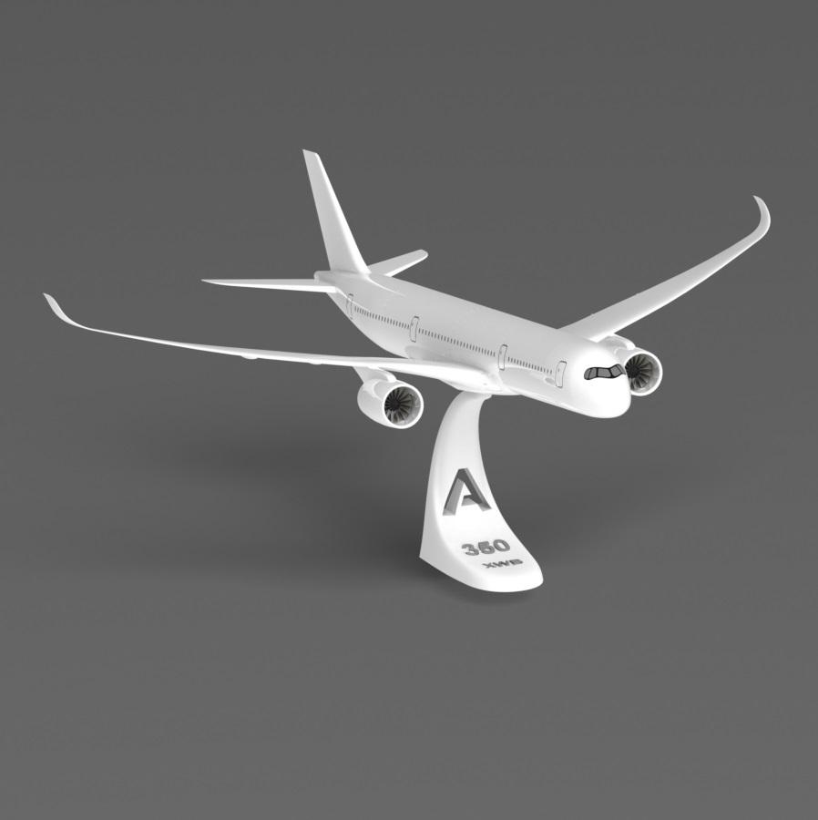 A350 komplett.JPG Télécharger fichier STL gratuit Airbus A350 XWB Lufthansa Airliner Sacle 1/100 • Design pour imprimante 3D, BeneHill