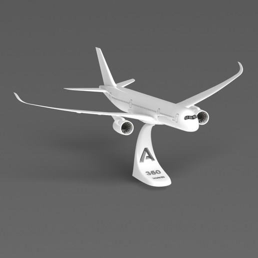 A350 komplett.JPG Download STL file Airbus A350 XWB Lufthansa Airliner Sacle 1/100 • Design to 3D print, BeneHill