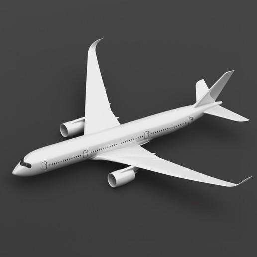 07E63612-AACC-4076-924F-60C1602F1547.jpeg Télécharger fichier STL gratuit Airbus A350 XWB Lufthansa Airliner Sacle 1/100 • Design pour imprimante 3D, BeneHill