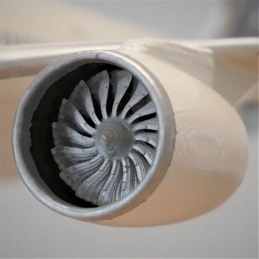 engine.jpg Download STL file Airbus A350 XWB Lufthansa Airliner Sacle 1/100 • Design to 3D print, BeneHill