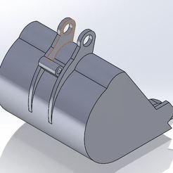 Bucket 2.JPG Download free STL file Backhoe Bucket • 3D printable model, sebastiananazco