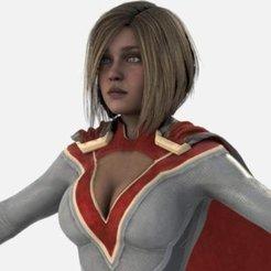 power-girl-from-injustice-2.jpg Download free STL file Power Girl from Injustice 2 3D Model • Object to 3D print, tredinium