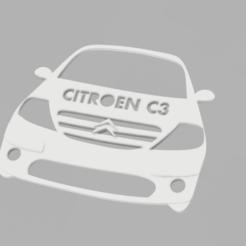 citroen C3 v1.png Download STL file CITROEN C3 keychain • 3D printable object, Andreads