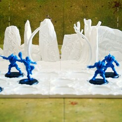 ogros 1.jpg Download STL file 3D FANTASY FOOTBALL DUGOUTS VOL 1 (ogres dugout) • 3D printer design, 13BadLuck