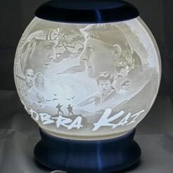 Cobra Kai-03.jpg Télécharger fichier STL Cobra Kai Nightlight Globe Lithophane • Modèle à imprimer en 3D, brianhole