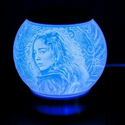 Warrior Nun-02.jpg Télécharger fichier STL Guerrier Nun Nightlight Globe Lithophane • Objet pour imprimante 3D, brianhole